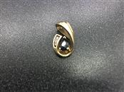 Blue Stone Gold-Diamond & Stone Scrap 3 Diamonds .06 Carat T.W. 10K Yellow Gold